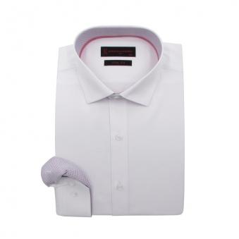 [로베르따] 슬림핏 화이트 도비 긴소매 셔츠 RI1355_1(화이트) (업체별도 무료배송)