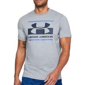 [언더아머] 남성 블록 스포츠스타일 티셔츠 그레이 1305667-035 (업체별도 무료배송)