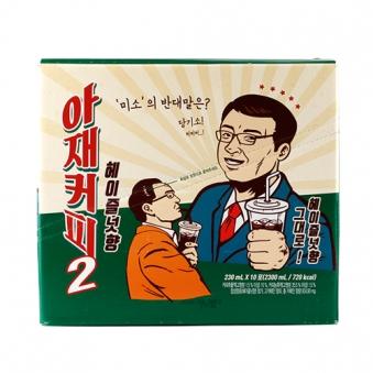 아재커피 헤이즐넛향 230ml*10포입 x 5박스 (업체별도 무료배송)