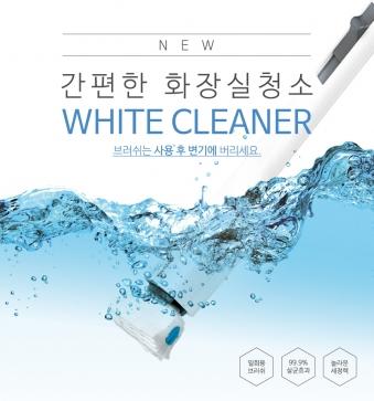 [ONU] 화이트 크리너 화장실 청소기 세트 (핸들1개+리필1팩) (업체별도 무료배송)