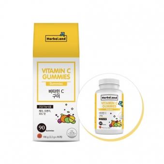 허벌랜드 비타민C 구미 198g (2.2g*90구미) (업체별도 무료배송)