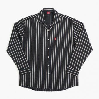 [only 1%] 스트라이프 오픈카라 린넨 셔츠 (업체별도 무료배송)