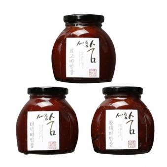 [다다익선] [세종숨] 강원볶음 고추장 3종세트 (업체별도 무료배송)