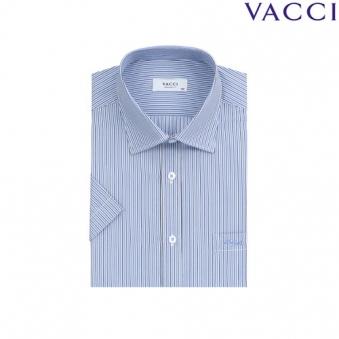 [VACCI] 바찌 일반핏 블루 스트라이프 반소매셔츠 08_B0 (업체별도 무료배송)