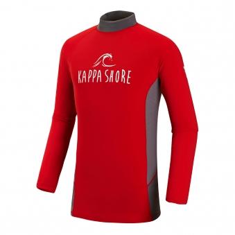 [카파] KAPPA 자외선차단 비치웨어 퍼포먼스라인 레쉬가드 UV-CUT RED KGRL241MN (업체별도 무료배송)