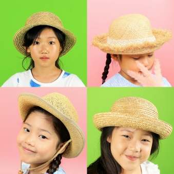3개-8,700원 아동 여름 비치모자 (업체별도 무료배송)