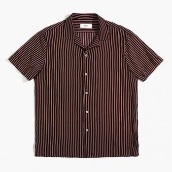 [only1%] 시어서커 스트라이프 반팔 셔츠 (업체별도 무료배송)