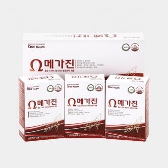 한국코러스제약 메가진 830mg*120캡슐 (2개월분) (업체별도 무료배송)