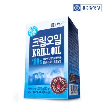 종근당건강 어스투어스 크릴오일 100% 1000mg*30캡슐 (업체별도 무료배송)