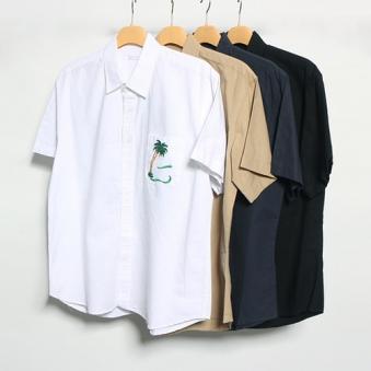 [only 1%] 오아시스 자수 반팔 셔츠 (업체별도 무료배송)