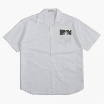 [only 1%] 전사 포켓 반팔 셔츠 (업체별도 무료배송)