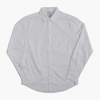 [only 1%] 화이트 줄지 셔츠 (업체별도 무료배송)