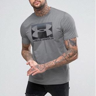 [언더아머] 남성 블록 스포츠스타일 티셔츠 그레이 1305660-035 (업체별도 무료배송)