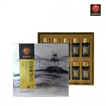 [동원천지인] 산삼배양근 선물세트 75ml*10병 + 쇼핑백포함 (업체별도 무료배송)