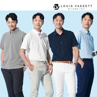 [루이바셋] 홈쇼핑상품 남성 시그니처 워라밸 반팔셔츠 4종 택1 (업체별도 무료배송)