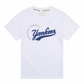 [,MLB] 남여공용 원형 로고 티셔츠 71TSCB831-50W (업체별도 무료배송)