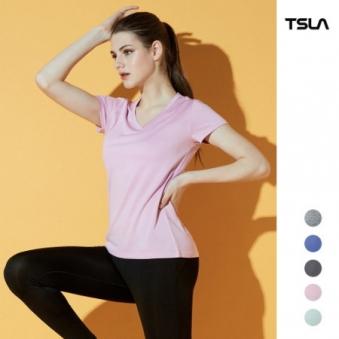 [테슬라] 여성 하이퍼드라이 브이넥 반팔 티셔츠 / TM-FTS21 6종 택1 (업체별도 무료배송)