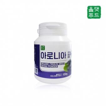 [올댓푸드] 유기농 동결건조 아로니아분말 100g (업체별도 무료배송)
