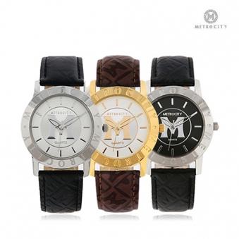 [메트로시티] 남녀 공용 가죽 손목시계 MTS0730 (업체별도 무료배송)