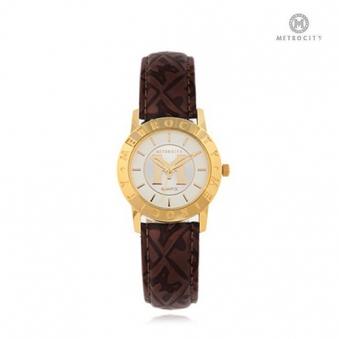 [메트로시티] 여성 가죽 손목시계 MTS0730 BK/GD (업체별도 무료배송)