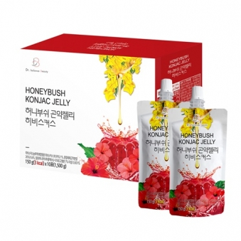 [주말특가] 허니부쉬 곤약젤리 히비스커스맛 150g*10포 x 3박스(업체별도 무료배송)