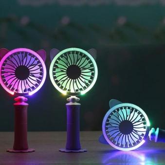 LED 핸디선풍기 X 2개 (색상랜덤발송) (핑크/옐로우/퍼플) (업체별도 무료배송)