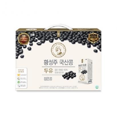 [핫딜] 이롬 황성주 국산콩 검은콩 두유 190ml x 24개 (업체별도 무료배송)
