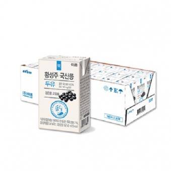이롬 황성주 국산콩 검은콩 고칼슘 두유 140ml x 24개 (업체별도 무료배송)