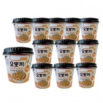 [마감세일] 요뽀끼 닭갈비맛 떡볶이컵 130g x 12개 (업체별도 무료배송)