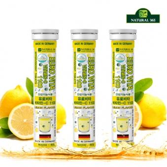 내츄럴365 유로비타 비타민C 1100 (총3병/60일분) (업체별도 무료배송)
