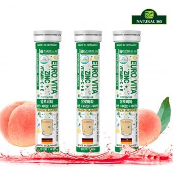 내츄럴365 유로비타 아연 비타민C 비타민E (총3병/60일분) (업체별도 무료배송)