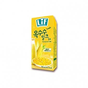 LiF 옥수수 밀크 180ml x 24개입 (업체별도 무료배송)