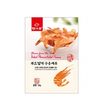 신선한 새우로 만든 부드럽게 구운새우 25g x 5개 (업체별도 무료배송)