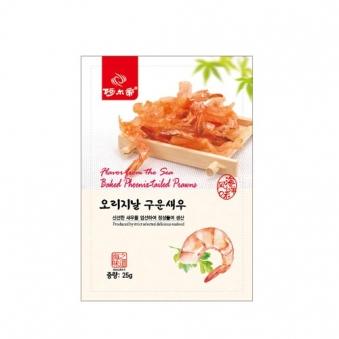 신선한 새우로 만든 오리지날 구운새우 25g x 5개 (업체별도 무료배송)