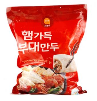 [주말특가] 햄가득부대만두 1kg *3봉(업체별도 무료배송)