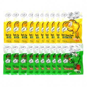 [다다익선] 소프트 츄 캔디 옥수수맛 40g x 10개 + 수박맛 40g x 10개 (업체별도 무료배송)