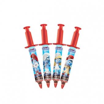 [다다익선] 스머프 초콜릿크림 주사기 초콜릿 13g x 24개 (업체별도 무료배송)