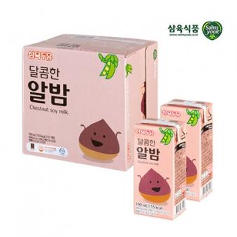 [핫딜] 삼육두유 달콤한 알밤두유 190ml x 48팩 (업체별도 무료배송)