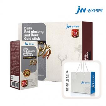 중외제약 데일리 홍삼녹용골드스틱  10g 10포 * 3박스 (쇼핑백 포함) (업체별도 무료배송)
