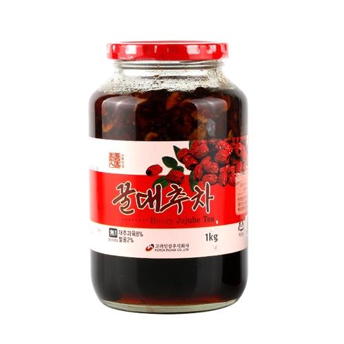 꿀대추차 1kg x 2개 (업체별도 무료배송)