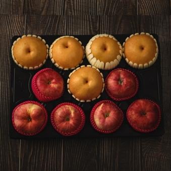 사과/배 혼합선물세트 5kg + 고급부직포증정 (업체별도 무료배송)