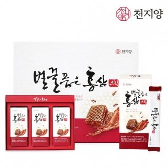 천지양 벌꿀품은 6년근 홍삼스틱  10ml x 30포 (업체별도 무료배송)