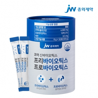 [JW중외제약] 10억 보장 프리바이오틱스 프로바이오틱스 모유유산균 6g*50포 (업체별도 무료배송)