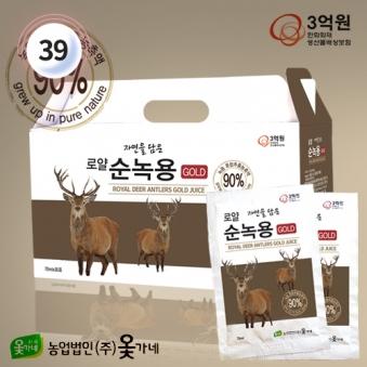 [옻가네] 로얄 자연을담은 순녹용골드 70ml*30포 (1박스) (업체별도 무료배송)