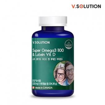 브이솔루션 슈퍼 오메가3 1100 루테인 비타민D 1302mg*180캡슐 (업체별도 무료배송)