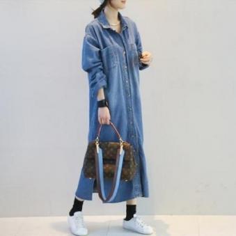 [도도한걸] 데님 셔츠 원피스 (업체별도 무료배송)