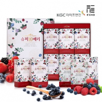 KGC라이프앤진 정관장 슈퍼10베리 60ml*30포 쇼핑백포함 (업체별도 무료배송)