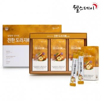 웰스데이 진한 도라지배스틱 10ml*30포 쇼핑백포함 (업체별도 무료배송)