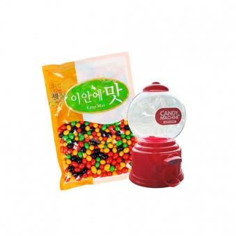 미니캔디머신(색상랜덤) + 땅콩초코볼 500g (업체별도 무료배송)