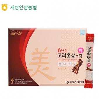 개성인삼농협 6년근 고려홍삼스틱 [미]  (15ml X 30포) (업체별도 무료배송)
